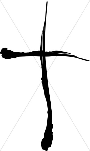 Painted Cross in Black