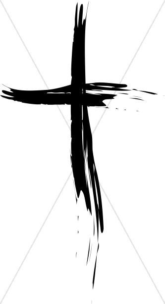 Cross Painted in Black