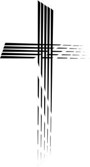 Contemporary Cross in Motion Stripes