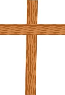 Cross Made of Cut Boards
