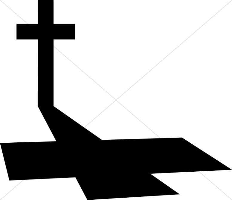 Long Shadow on Good Friday Cross