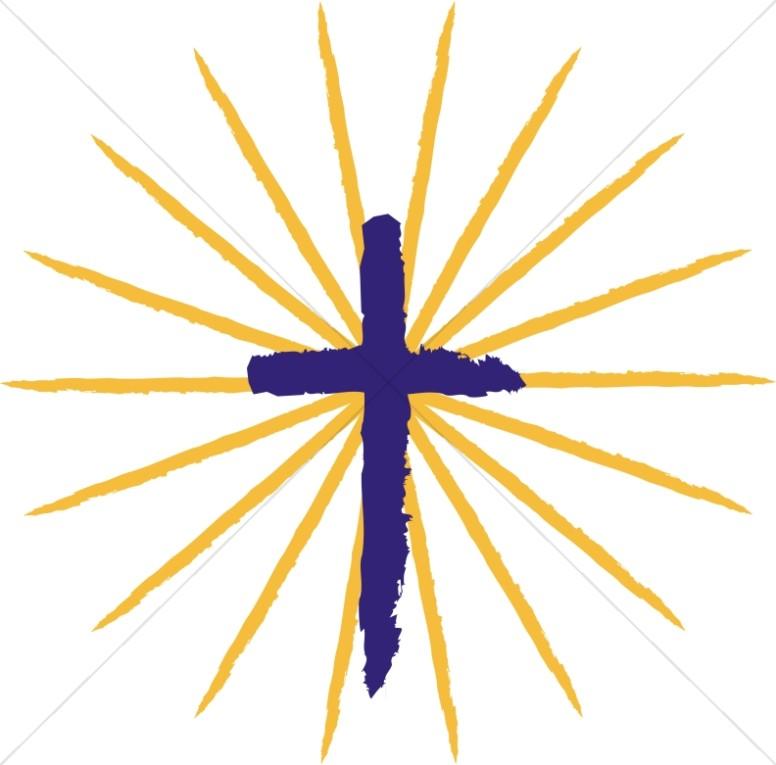 Pentecost Cross with Rays