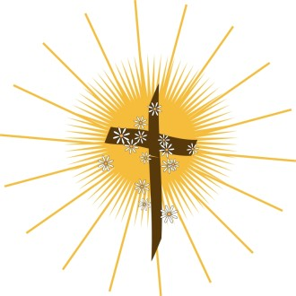 Shining Cross with Daisies