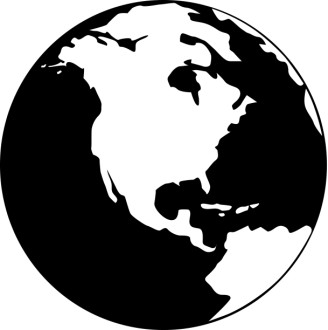 Relief Globe   White and Black
