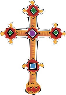 Spanish Jeweled Cross