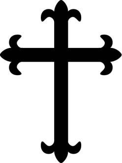 Fleur De Lis Cross