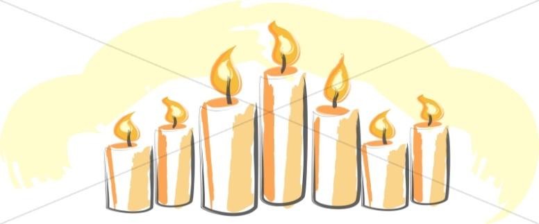 Yellow Pillar Candles