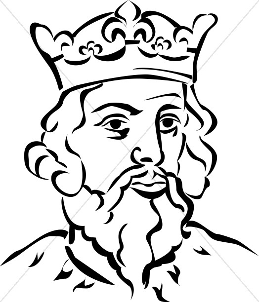 Colouring Picture King : King with Crown Crown Clipart