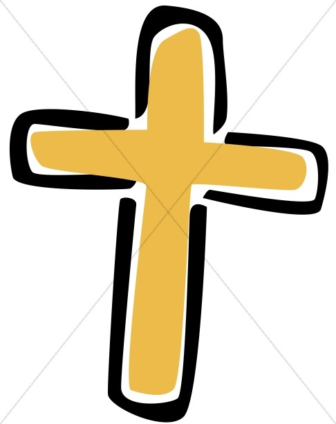 Simple Gold Cross Clipart