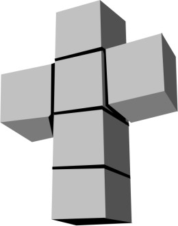 Cross of Cubes Graphic