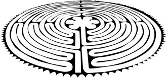 Peace Labyrinth   Black and White