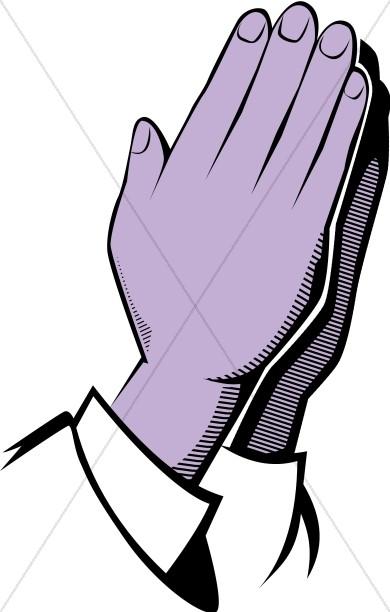 Purple Praying Hands