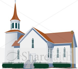 White Modern Style Church