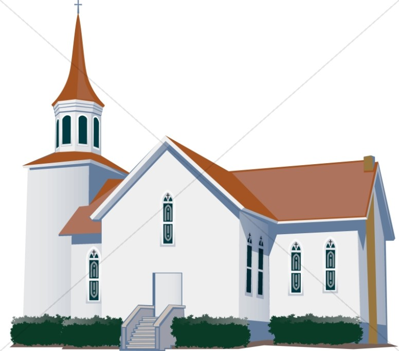 White Modern Style Church