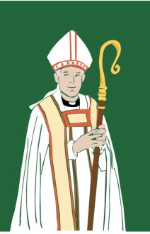 Catholic Bishop with Staff