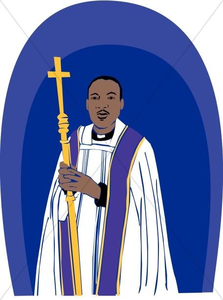 installation of bishop clip art