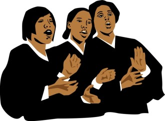 Three Church Singers