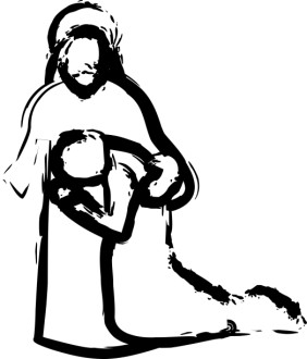 Jesus' Embrace During Prayer