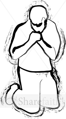A Kneeling Man | Prayer Clipart