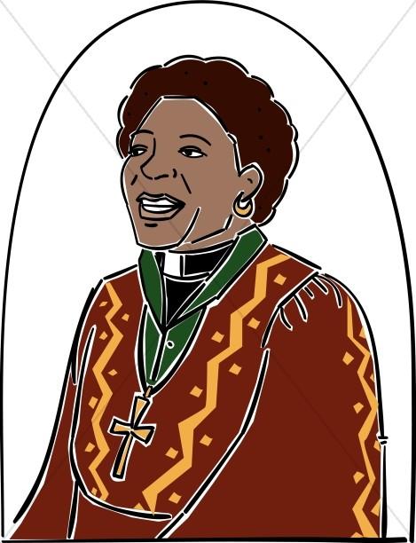 African American Female Reverend