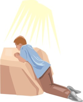 On A Bed In Prayer
