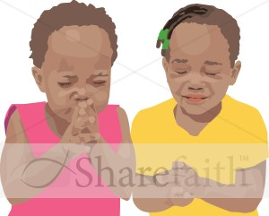 Two Children Praying