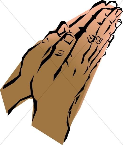 Leaning Prayer Hands
