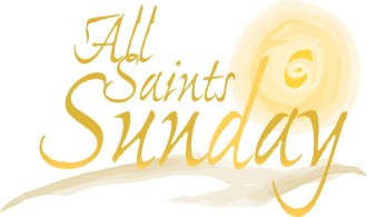 All Saints Sunday with Watercolor Sun