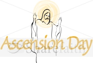 Ascension Day Wording with Halo Jesus