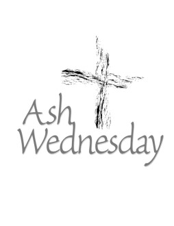 Ash Wednesday with Abstract Cross