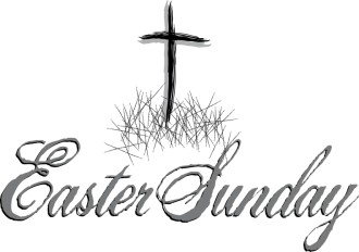 Easter Sunday Script with Rugged Cross