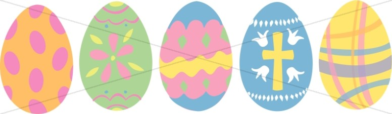 Five Colorful Eggs