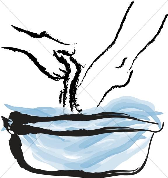 Maundy Thursday Washing Feet