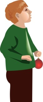 Boy Holding Ornament