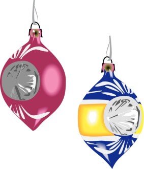 Pair of Glass Ornaments