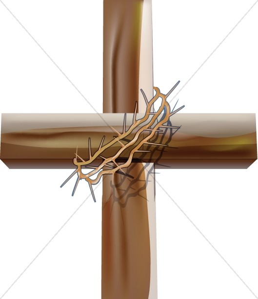 Crown of Thorns Cross Clipart