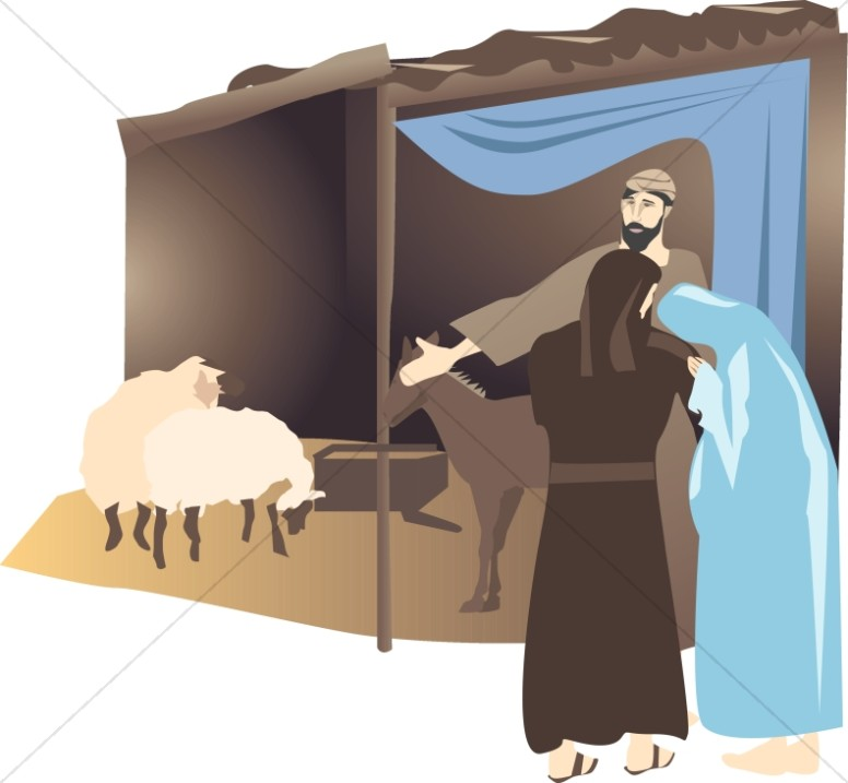 Mary and Joseph at the Stable