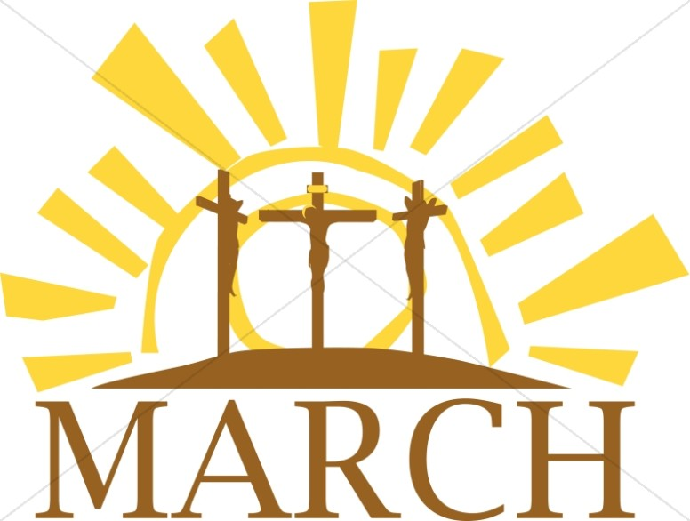 March Calvary Cross Motif