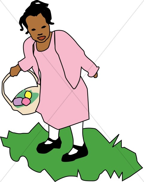 Girl Collecting Eggs