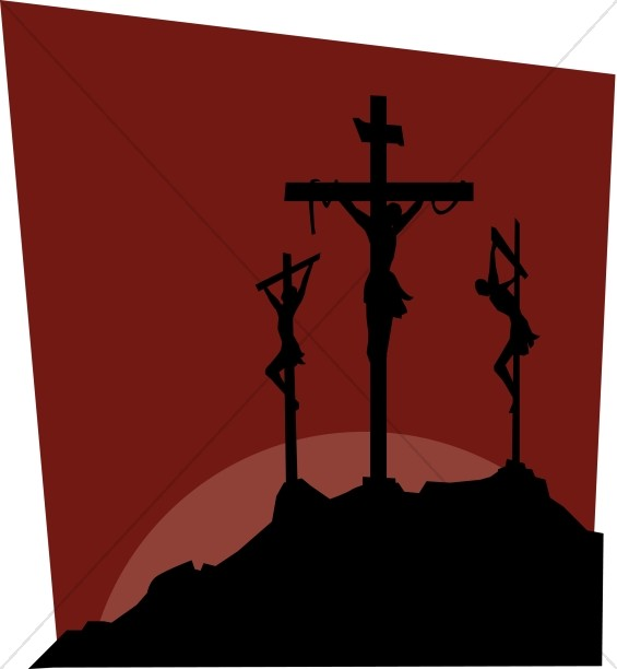 Dark Image of Calvary Crosses