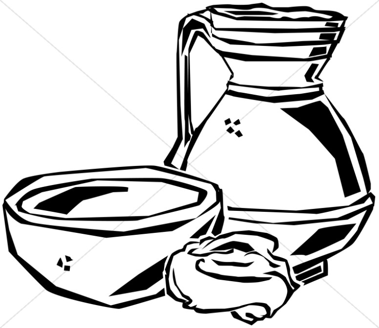Maundy Thursday Washing Materials | Maundy Thursday Clipart Da Vinci Last Supper Coloring Pages