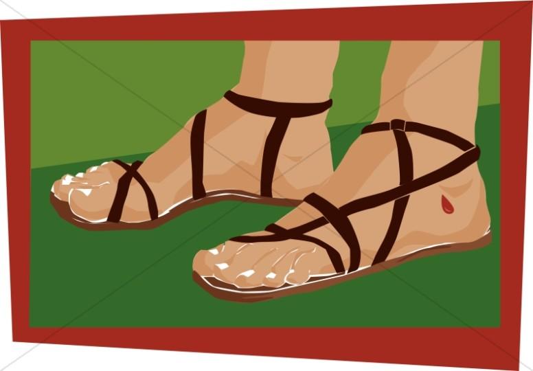 Roman Soldiers Feet