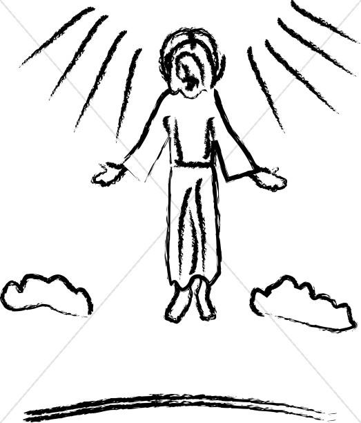 Ascension Jesus Clipart Images