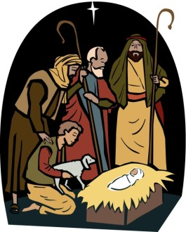 The Shepherds Visit the Manger