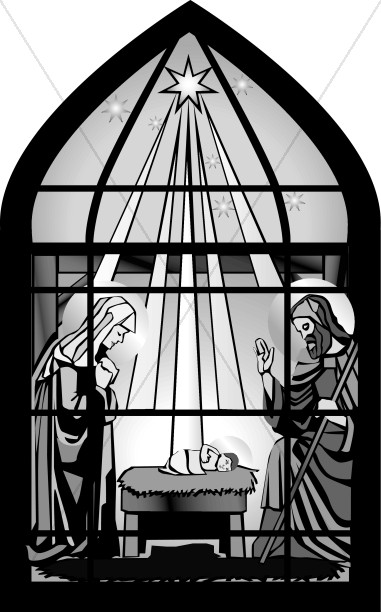 Christ's Birth through Window