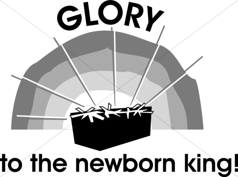Nativity Scene Glory to the Newborn King