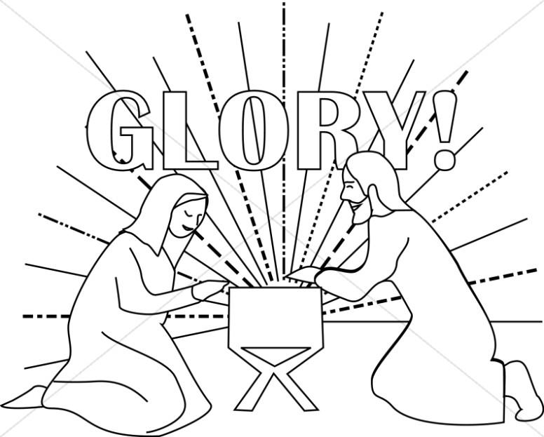 Glory Baby Jesus in Manger