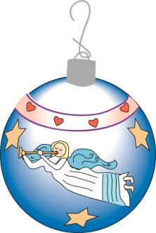 Angel Ornament Heralding Christmas