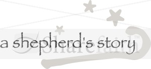 A Shepherd's Story with Crook and Stars