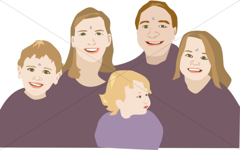 Ash Wednesday Family Clipart